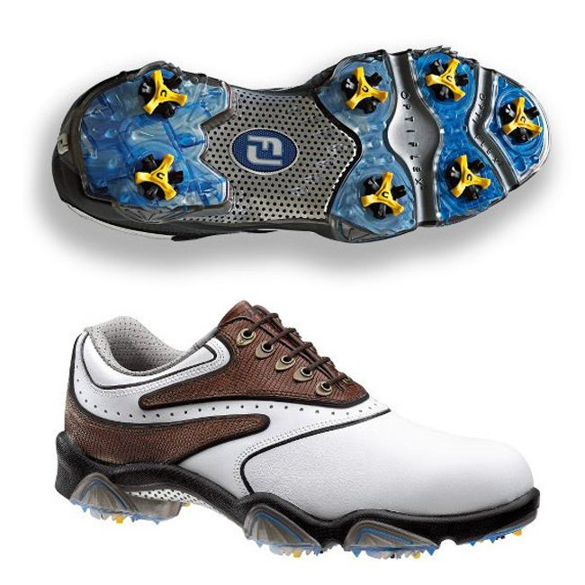 FootJoy Men's SYNR-G White/ Brown Golf Shoes