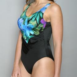 Sun Streak Women's 'Hawaiian Night' One-piece Swimsuit-Size 8