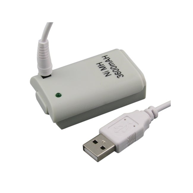 INSTEN Battery with USB Cable for Microsoft Xbox 360 Controller
