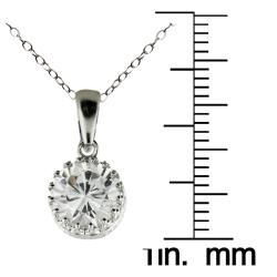 Gioelli Sterling Silver Round-cut Cubic Zirconia Necklace - Thumbnail 2