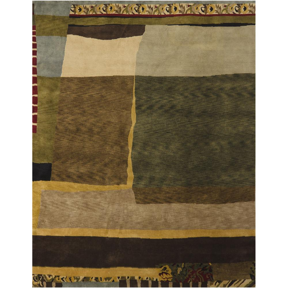 Hand-knotted Mandara New Zealand Wool Rug (9' x 12')