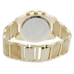 Geneva Platinum Women's Chronograph-style Ivory Link Watch