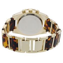 Geneva Platinum Women's Chronograph-style Tortoise Link Watch - Thumbnail 1