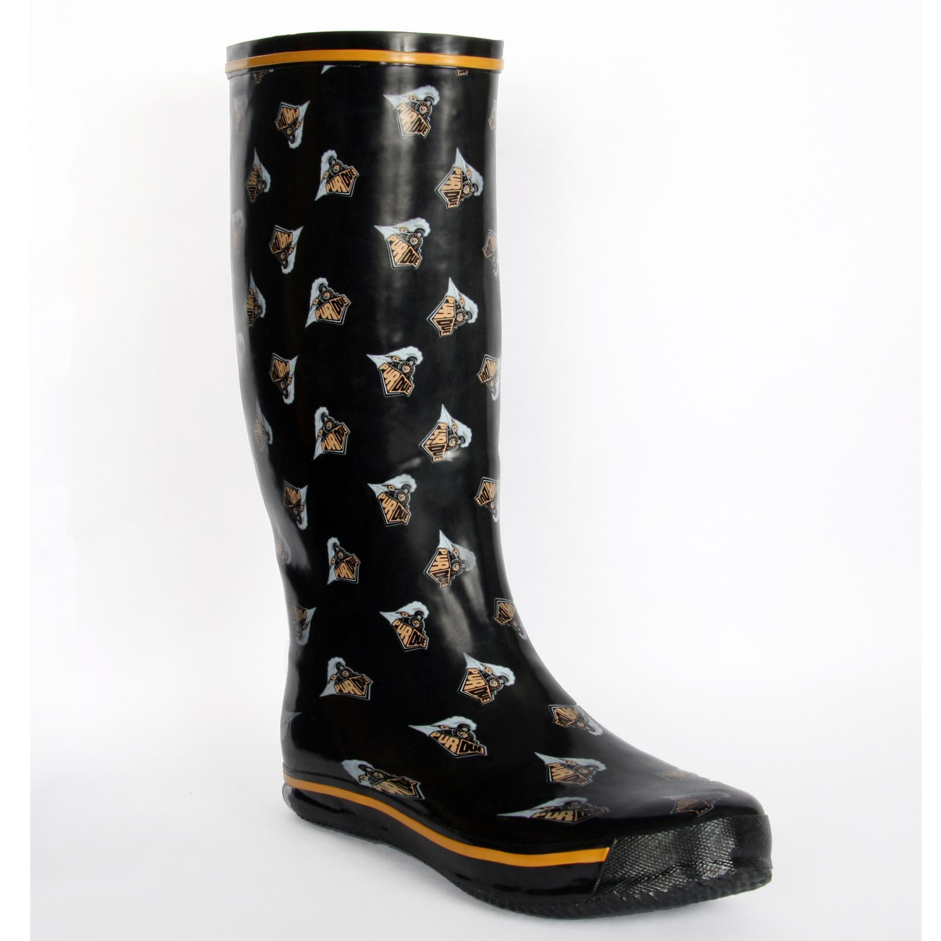 Purdue Boilermaker Women's Scattered Logo Rain Boots
