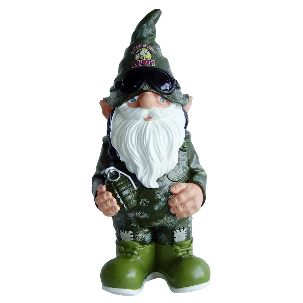 United states army 11 inch thematic garden gnome free for Combat gnomes for sale