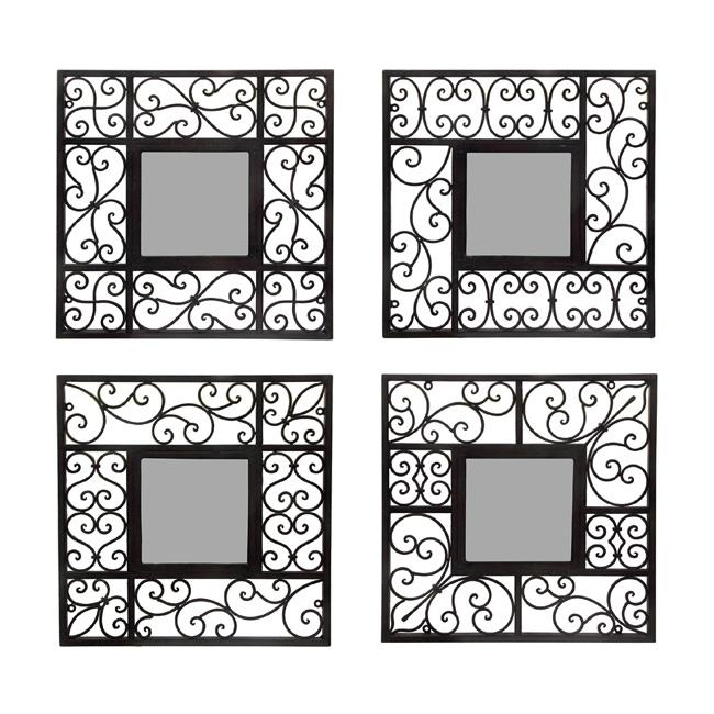 Square Mirror Wall Decor (Set of 4) - Overstock™ Shopping ...
