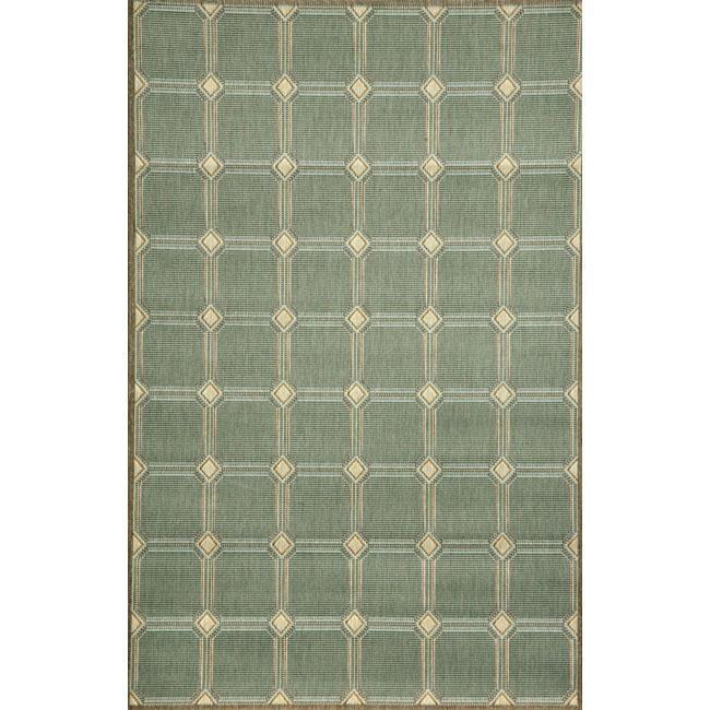 Cobblestone Aqua Rug (7'10 x 9'10)