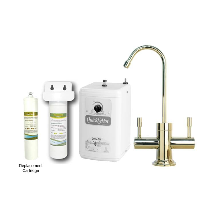 Westbrass Brass Contemporary Hot/ Cold Water Dispenser Faucet with ...