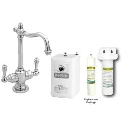 Westbrass Chrome Victorian Hot Cold Water Dispenser Faucet With Under Counter Filter Kit Overstock 5960894