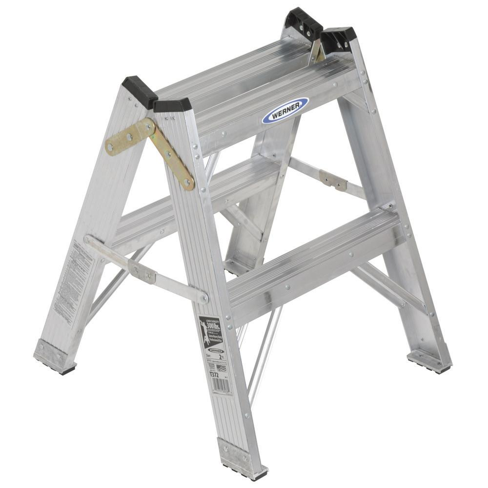 Werner Ladder 2-foot Twin-Sided Ladder - Thumbnail 2
