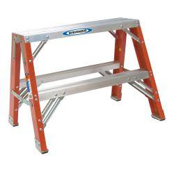 Groovy Werner Ladder 2 Foot Portable Work Stand Overstock Com Shopping The Best Deals On Step Ladders Creativecarmelina Interior Chair Design Creativecarmelinacom