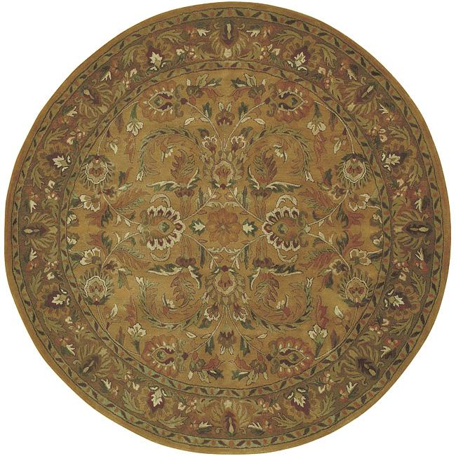 Hand-knotted Woodward Wool Rug (8' Round)
