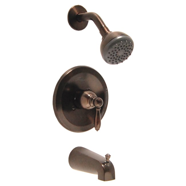 Fontaine Pari Brushed Bronze Tub and Shower Faucet Set with Valve