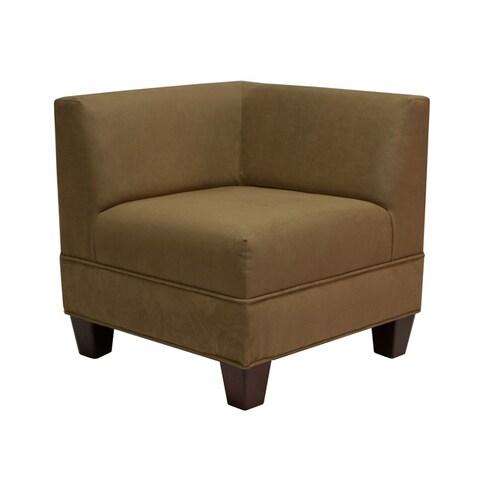 Makenzie Mocha Corner Chair