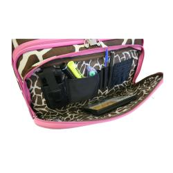American Flyer Pink Giraffe 17-inch Rolling Carry-on Tote