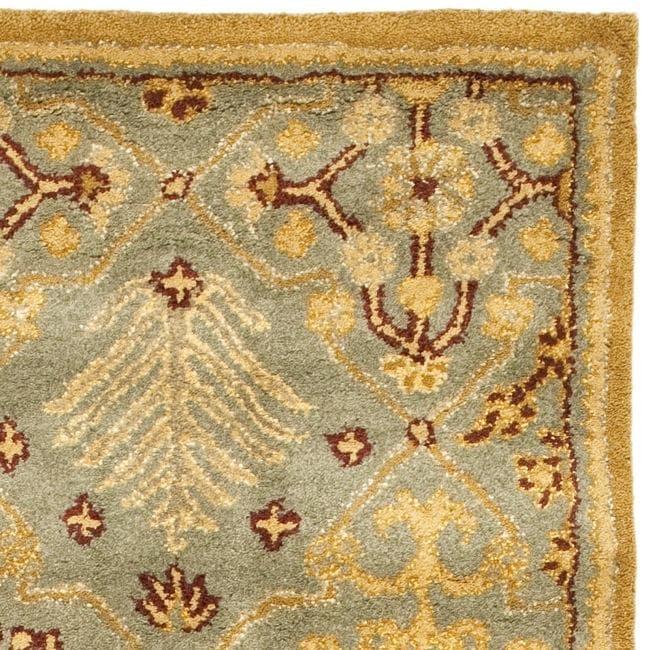 Safavieh Handmade Tree of Life Slate Blue Wool Runner (2'3 x 14') - Thumbnail 1