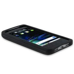 Black Rubber Coated Case for LG G2x/ T-Mobile G2x