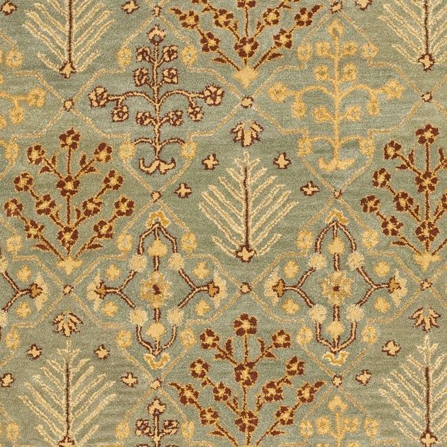 Safavieh Handmade Tree of Life Slate Blue Wool Rug (9'6 x 13'6) - Thumbnail 2
