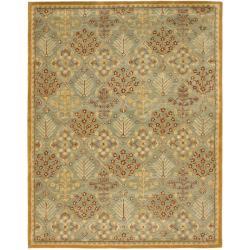 Safavieh Handmade Tree of Life Slate Blue Wool Rug - 9'6 x 13'6 - Thumbnail 0