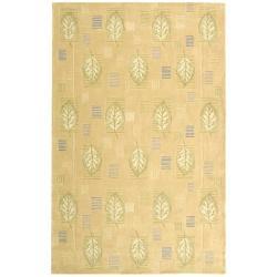 Safavieh Handmade Foliage Beige Wool Rug - 8'3 x 11' - Thumbnail 0