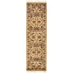 Safavieh Handmade Classic Jaipur Gold Wool Runner (2'3 x 8')