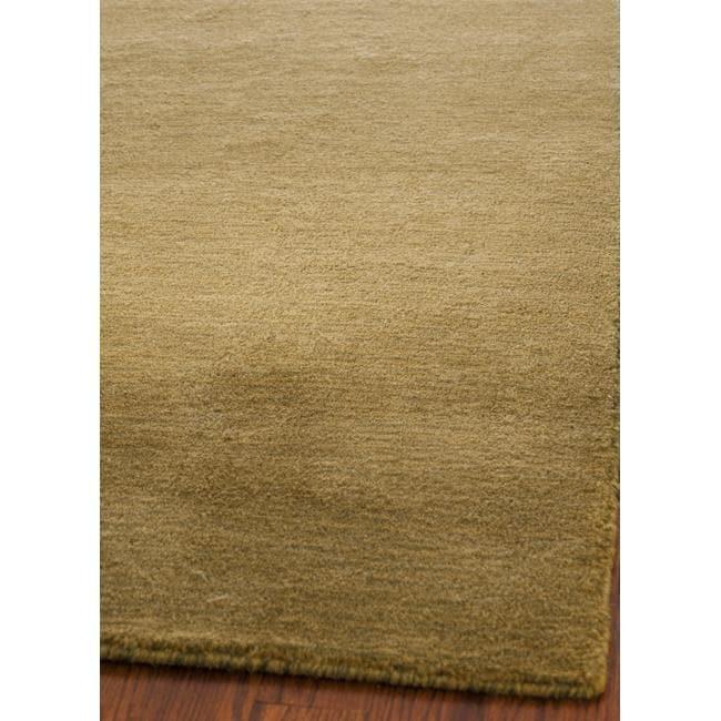 Safavieh Handmade Himalaya Solid Green Wool Area Rug - 4' x 6'