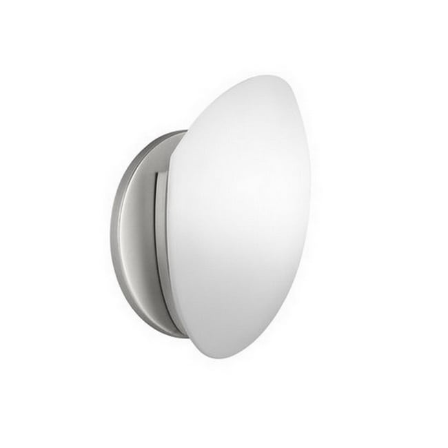 Bellona 1-light Fluorescent Brushed Nickel Wall Sconce