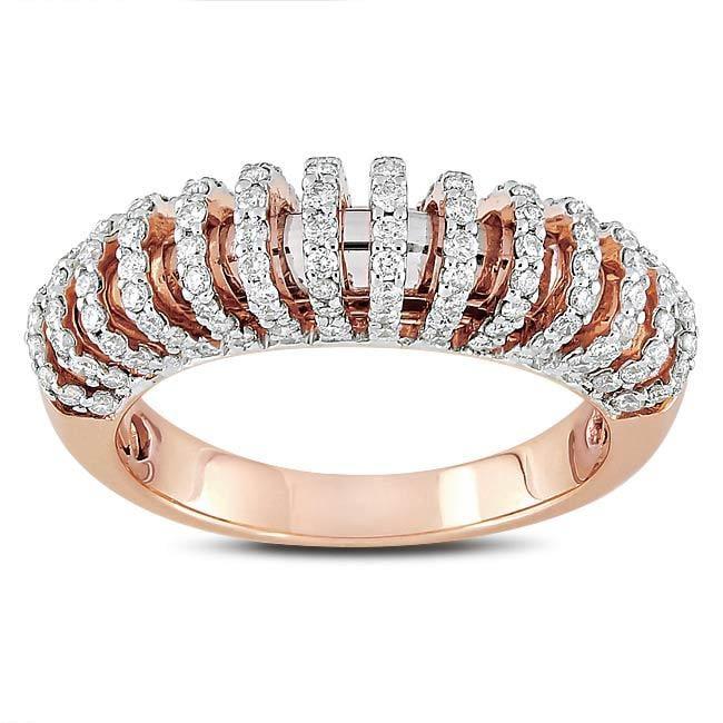 Miadora 18k Pink Gold 5/8ct TDW Diamond  Ring (G-H, SI1-SI2)
