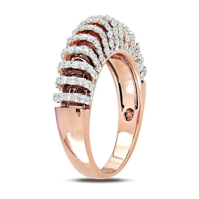 Miadora 18k Pink Gold 5/8ct TDW Diamond  Ring (G-H, SI1-SI2) - Thumbnail 1