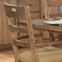 Nat Driftwood Acacia Wood Country Arm Chairs (Set of 2) - Thumbnail 2