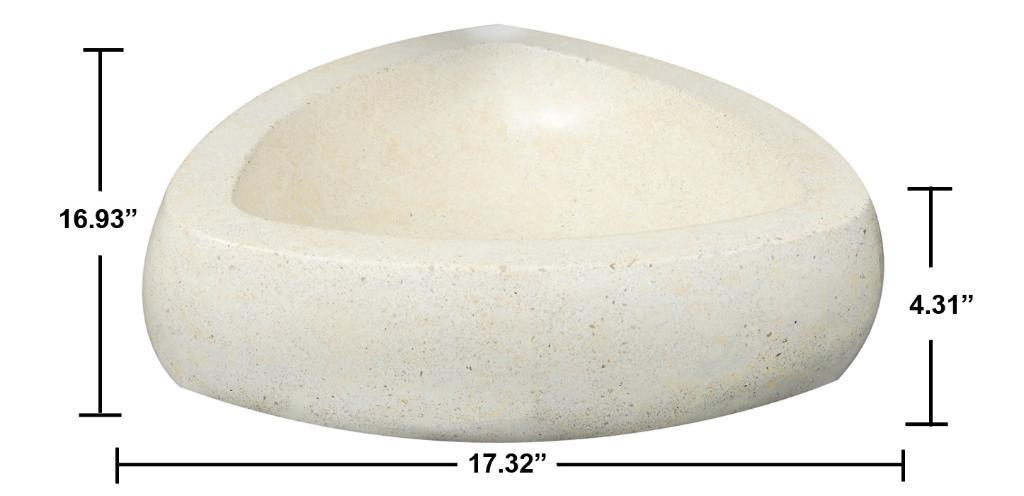 Concrete Triangle Ivory Sink - Thumbnail 1
