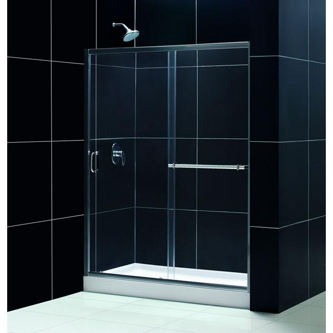 DreamLine Infinity Plus 60x72-inch Chrome Clear Shower Door - Thumbnail 0