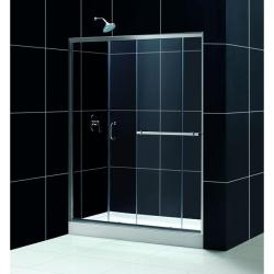 DreamLine Infinity Plus 60x72-inch Chrome Clear Shower Door - Thumbnail 1