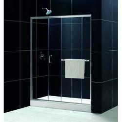 DreamLine Infinity Plus 60x72-inch Chrome Clear Shower Door - Thumbnail 2
