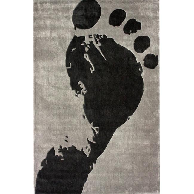 nuLOOM Handmade Pino Footprint Rug (5' x 8')
