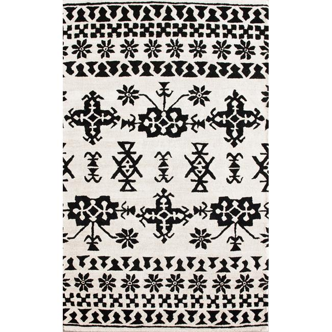 nuLOOM Handmade Moda Tribal New Zealand Wool Rug (7'6 x 9'6)