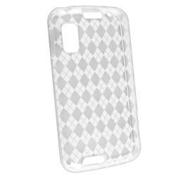Clear White Argyle TPU Case for Motorola Atrix MB860 4G