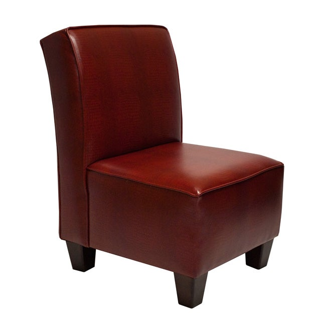 Miller Welted Red Crocodile Chair Free Shipping Today