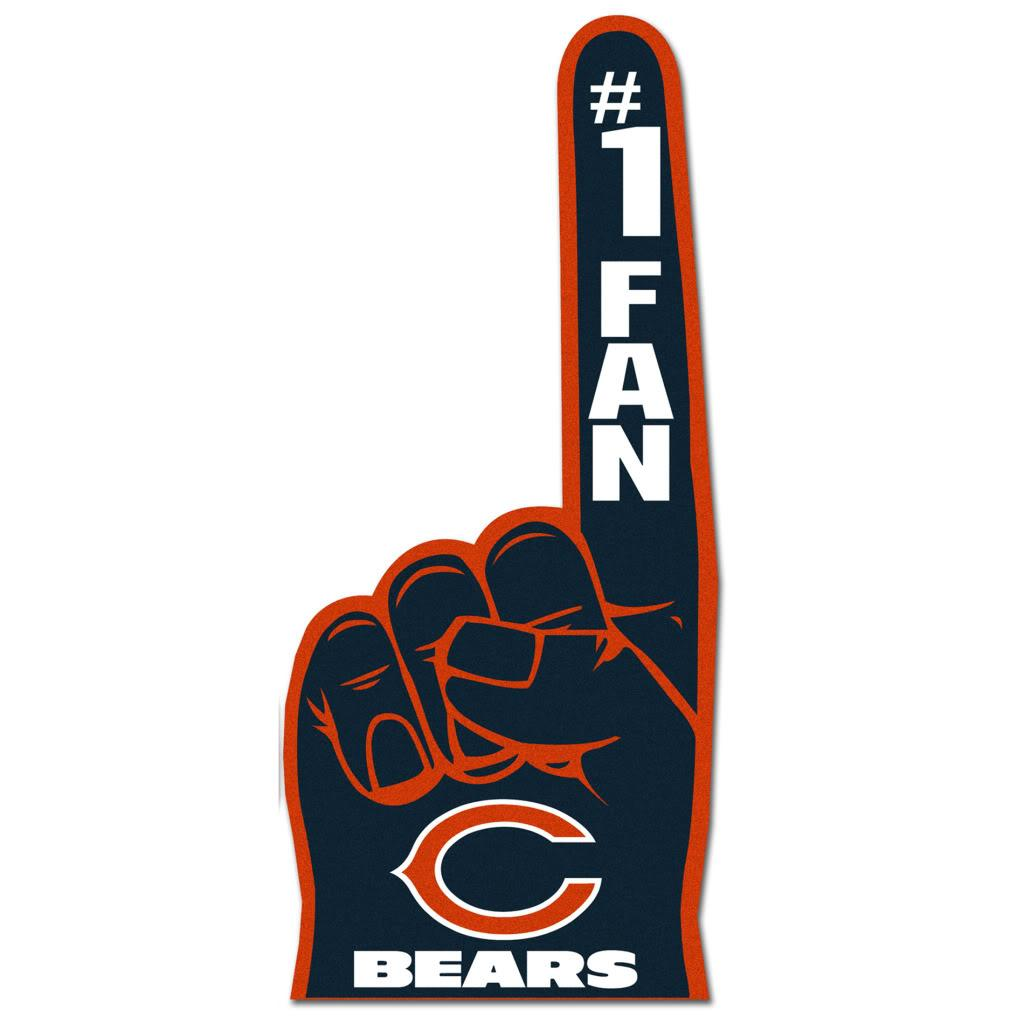 Chicago Bears 1 Fan Foam Finger Free Shipping On Orders