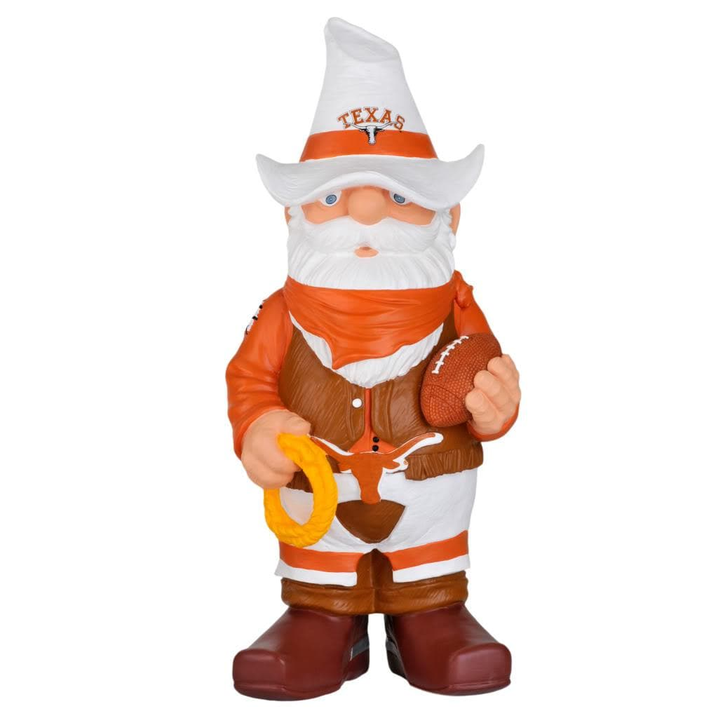 Texas Longhorns 11-inch Thematic Garden Gnome - Thumbnail 1