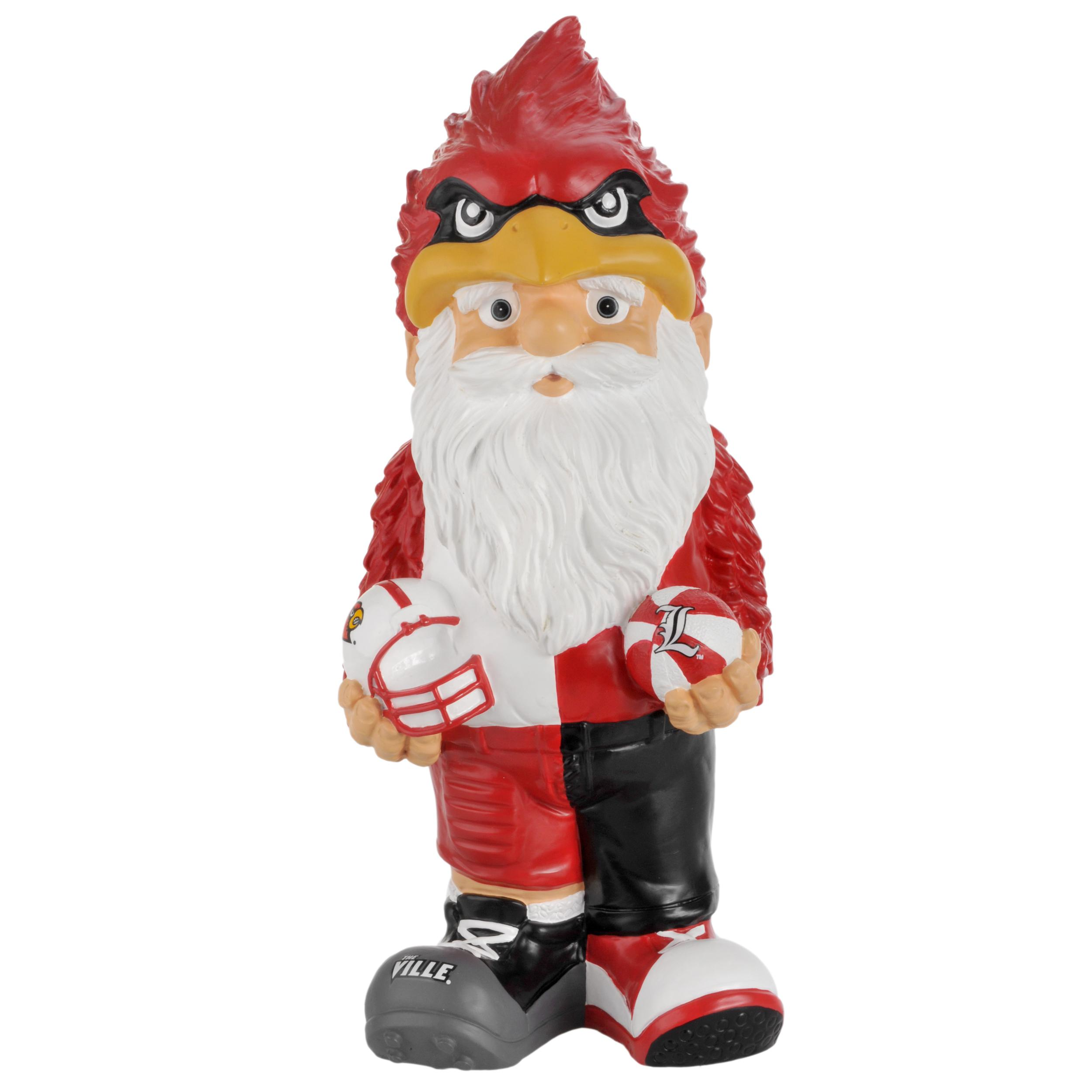 Louisville Cardinals 11-inch Thematic Garden Gnome - Thumbnail 1