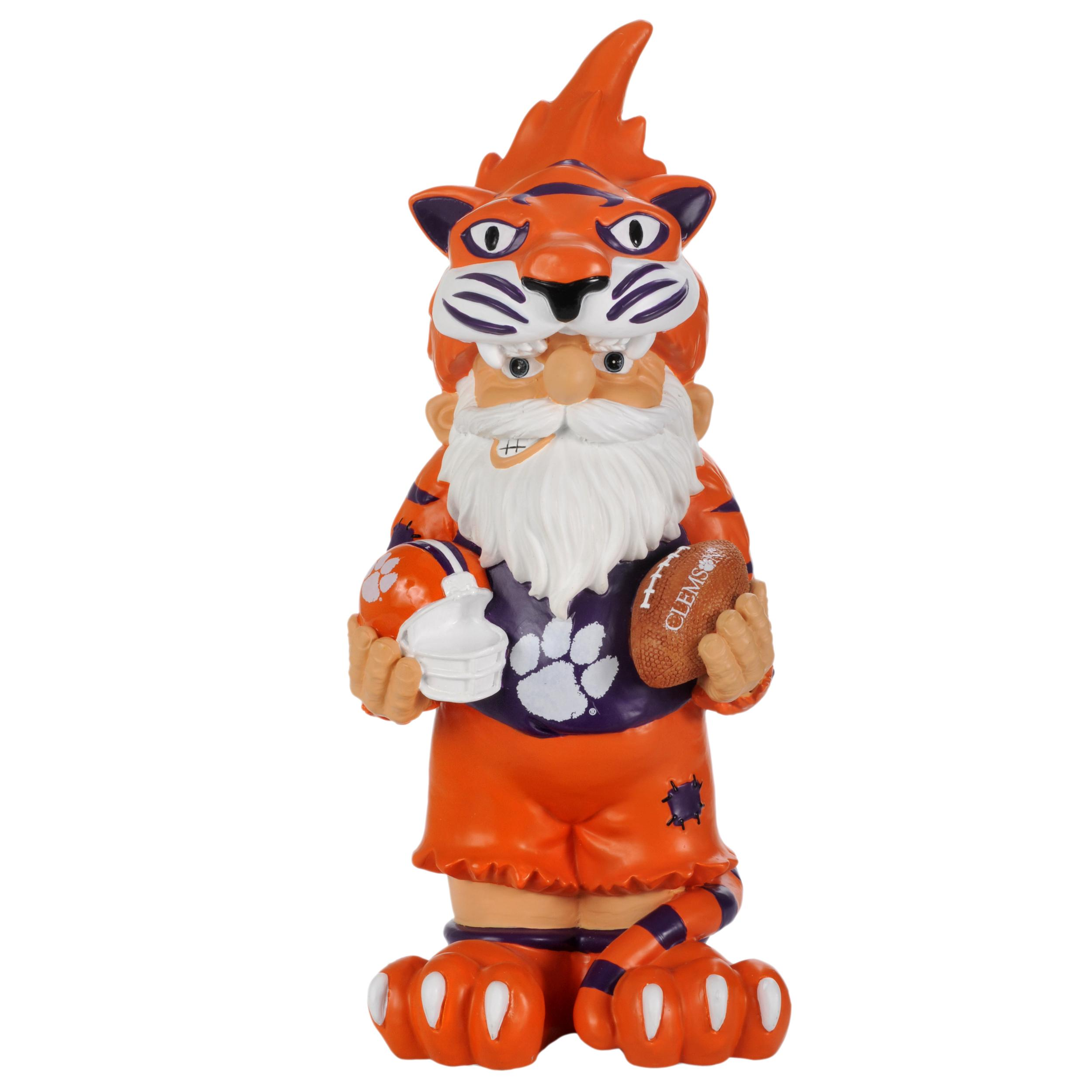 Clemson Tigers 11-inch Thematic Garden Gnome - Thumbnail 1