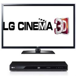 LG 47LW5600 Cinema 3D 1080p 120Hz LED TV with LG BD670 3D Blu-ray Player and Four Pairs of 3D Glasses Bundle