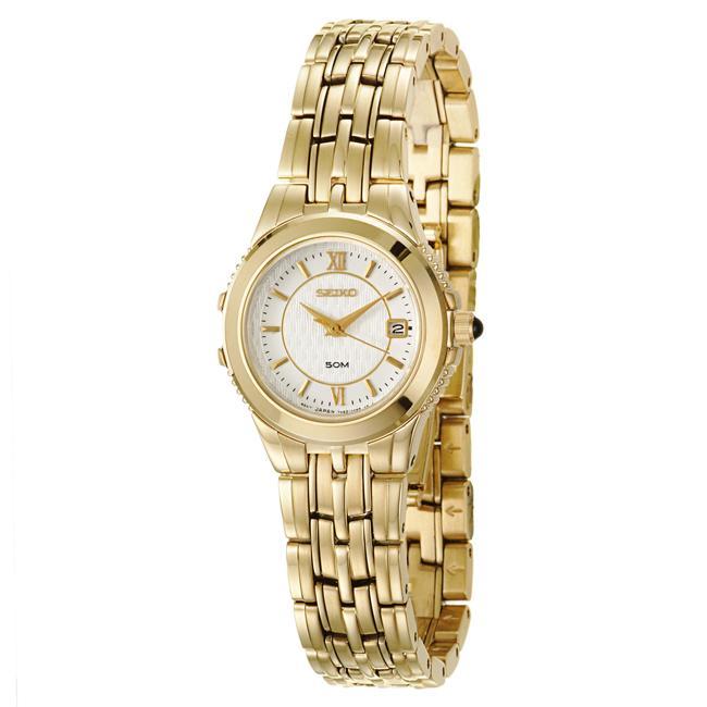 Seiko Women's 'Le Grand Sport' Goldplated Steel Quartz Watch