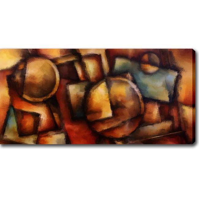 Abstract Modern 'Dark Colors' Giclee Canvas Art