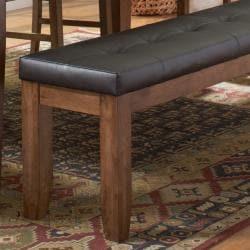 Kai 60-inch Oak/ Dark Brown Dining Bench