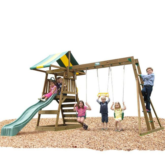 Play Time Andover Series Swing Set with Chain Accessories