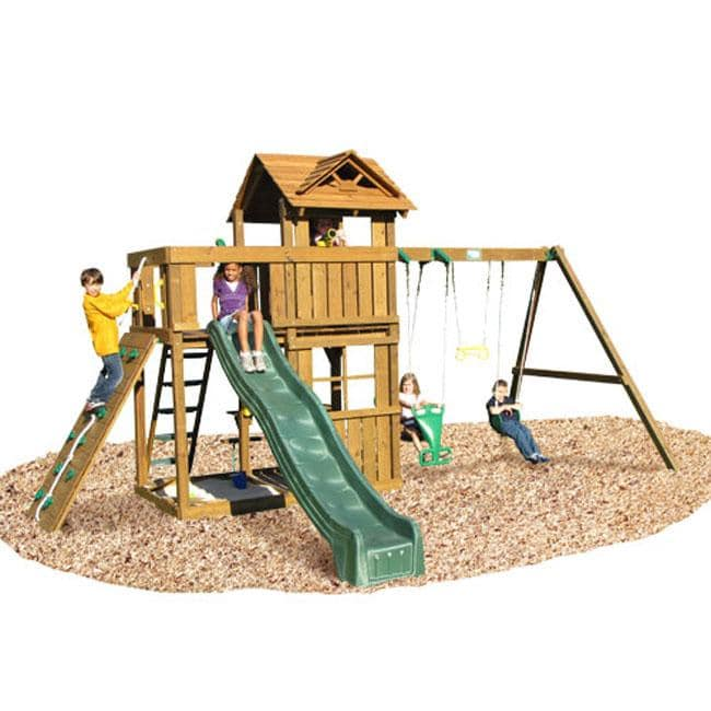 Play Time Cambridge Series Swing Set  with Rope Accessories