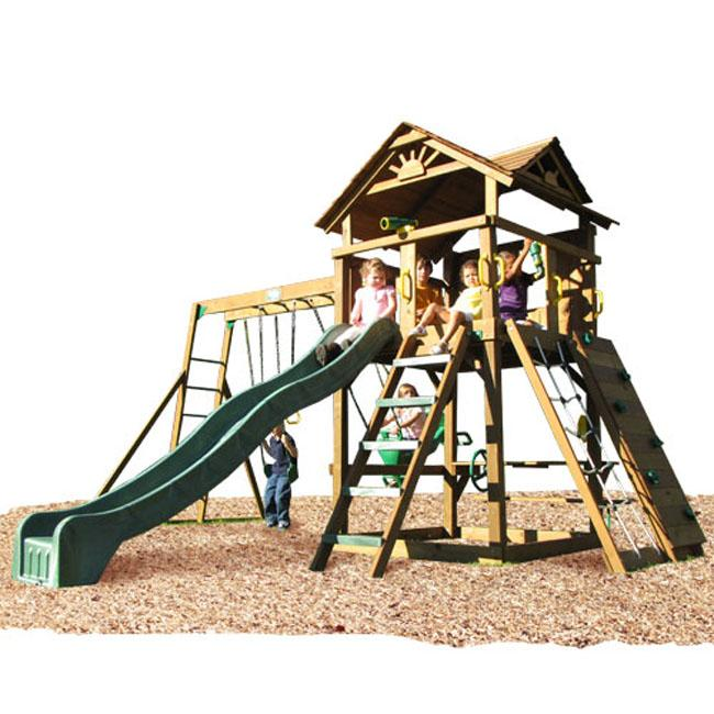 Shop Play Time Stockbridge Series Swing Set Top Ladder With Rope