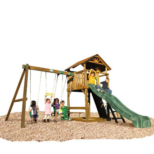 Play Time Stockbridge Series Swing Set with Chain Accessories